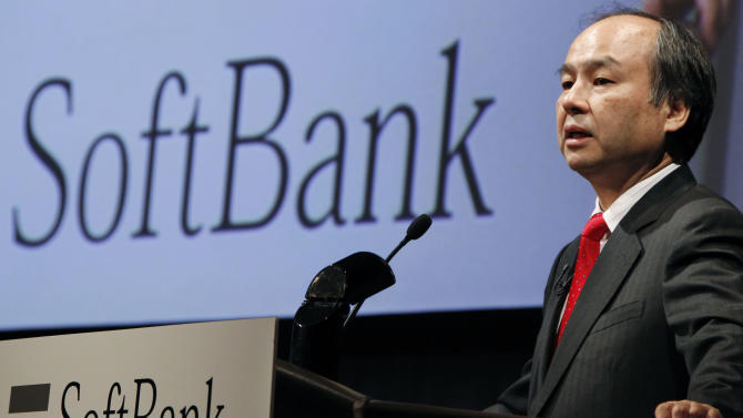 Softbank Corp. President Masayoshi Son speaks during a press conference in Tokyo Thursday, April 26, 2012. Annual profit at Japanese mobile carrier Softbank surged 65 percent, driven by strong demand for Apple's iPhone 4S. Son, often praised as Japan's Steve Jobs, said the three must-haves of the 20th Century - the washing machine, fridge and TV - had changed in the 21st century to the iPhone, iPad and cloud computing services. (AP Photo/Koji Sasahara)