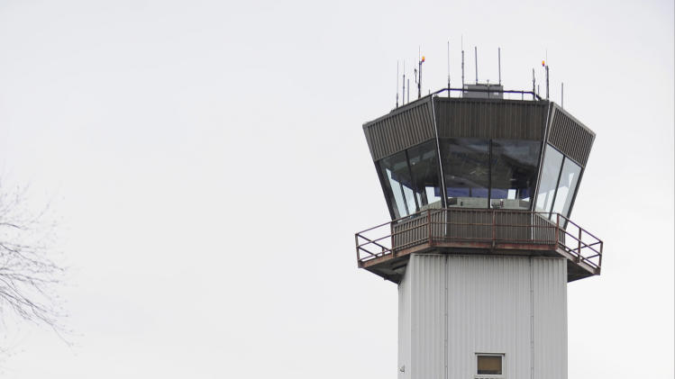 In this Nov. 26, 2012 photo, the air traffic control tower is seen at Southern Illinois Airport in Murphysboro, Ill. Under orders to trim hundreds of millions of dollars from its budget, the Federal Aviation Administration released a final list Friday, March 22, 2013, of 149 air traffic control facilities that it will close at small airports around the country starting early next month. The tower at Southern Illinois was included on that list. (AP Photo/The Southern, Joel Hawksley)