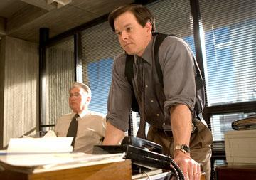 Martin Sheen and Mark Wahlberg in Warner Bros. Pictures' The Departed