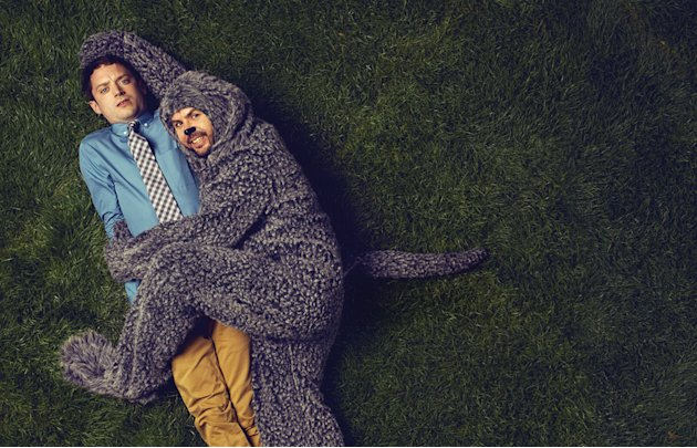 "Elijah Wood as Ryan and Jason Gann as Wilfred in ""Wilfred."""