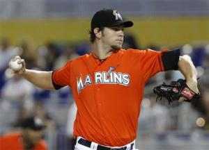 Johnson ties career high with 6 walks for Marlins