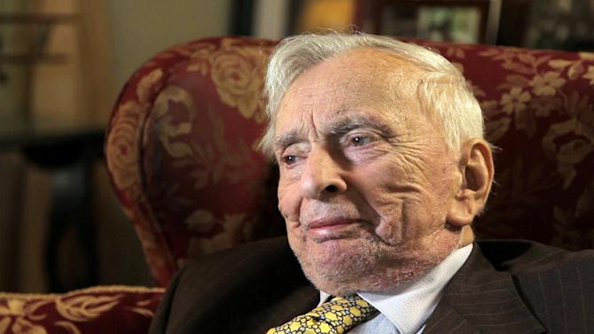 "This film image released by the Tribeca film Festival shows Gore Vidal in ""Gore Vidal: The United States of Amnesia"" a film that will be shown at the Tribeca Film Festival running April 17 through April 28, 2013 in New York. (AP Photo/Tribeca Film Festival)"