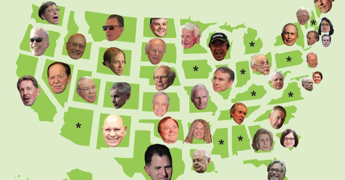 The richest person in every state