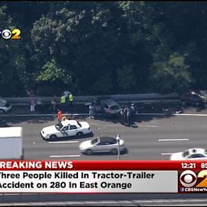 3 Killed In Crash Involving Tractor-Trailer, Several Vehicles On I-280 In East Orange