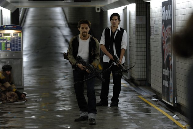 Willem Dafoe Ethan Hawke Daybreakers Production Stills Lionsgate 2010