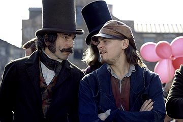 Daniel Day-Lewis and Leonardo DiCaprio in Miramax's Gangs of New York