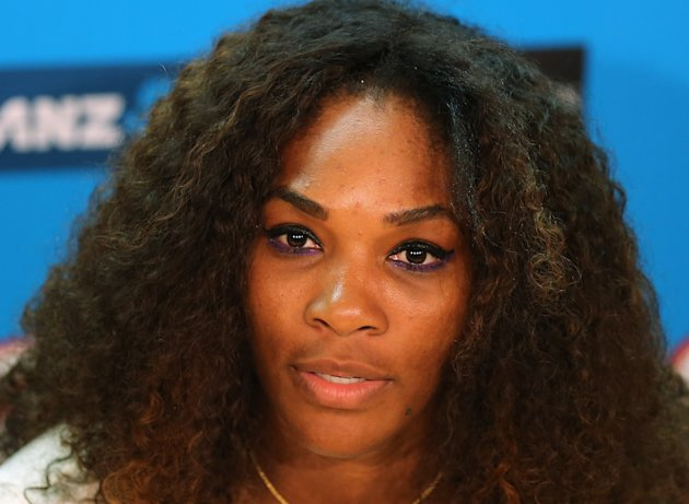 FILE - In this Jan. 12, 2013 file photo, Serena Williams answers a question during a press conference ahead of  the Australian Open tennis championship in Melbourne, Australia. Williams says she's rea