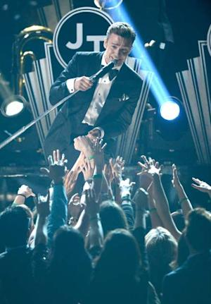 Justin Timberlake performs onstage at the 55th Annual Grammy Awards at Staples Center on February 10, 2013 -- Getty Images