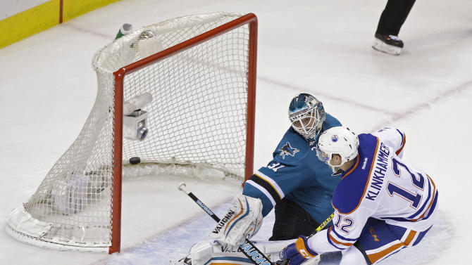 Oilers beat Sharks 5-4 in shootout to end California skid