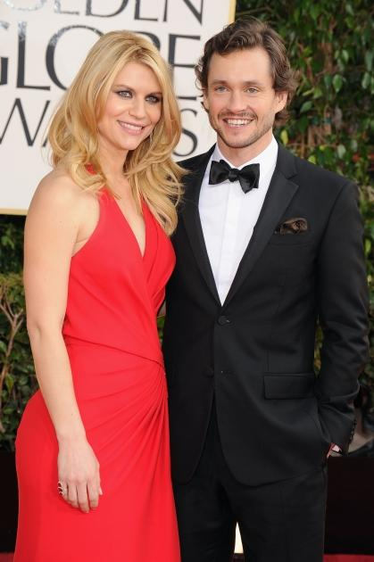 Claire Danes and Hugh Dancy arrive at the 70th Annual Golden Globe Awards held at The Beverly Hilton Hotel on January 13, 2013 -- Getty Images
