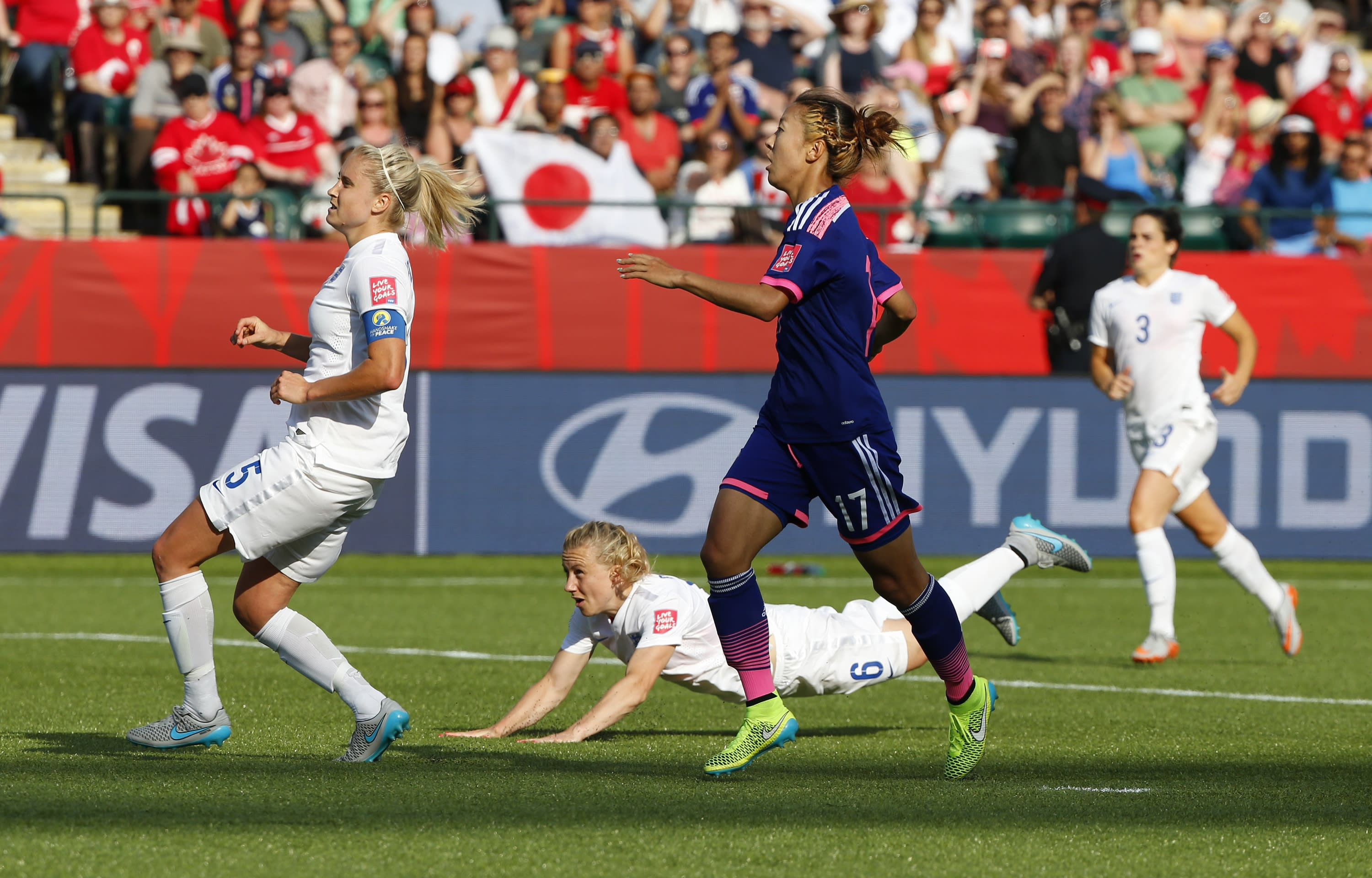 Stoppage time own goal sinks England against Japan in World Cup semi