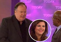 Tiffani Thiessen (inset) and Dennis Haskins on Today | Photo Credits: NBC