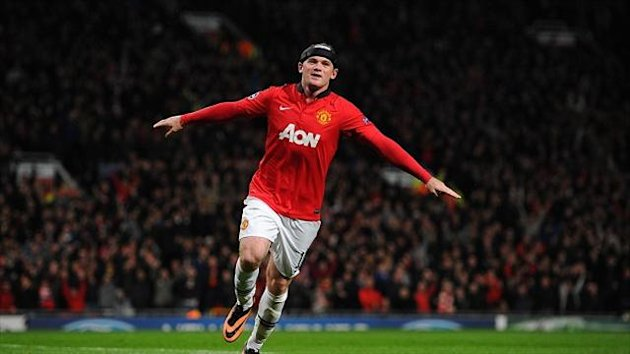 Wayne Rooney scored two of Manchester United's goals