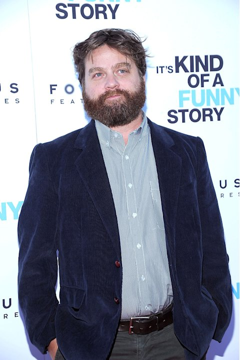 Its kind of a funny story NYC premiere 2010 Zach Galifianakis