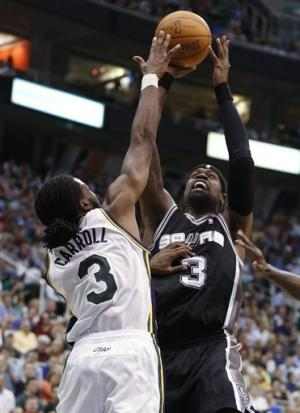 Jazz end star-less Spurs' 11-game win streak