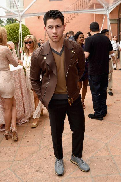 Nick Jonas attends Roc Nation and Three Six Zero Pre-GRAMMY Brunch 2015 at Private Residence on February 7, 2015 in Beverly Hills, Calif. -- Getty Images