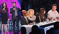 Khloe Kardashian Odom & Mario Lopez; Judges L.A. Reid, Britney Spears, Demi Lovato and Simon Cowell on the first live round of &#39;The X Factor,&#39; Season 2, on FOX -- FOX