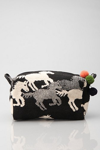 Horse Tapestry Cosmetic Bag, $16
