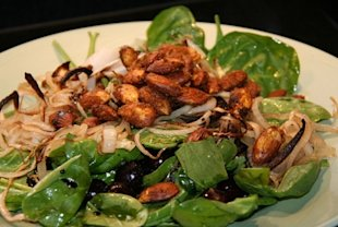 Chicken and Caramelized onion salad