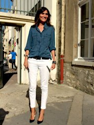 Katie Holmes and Emmanuelle Alt Crack Out The White Jeans. Should You?