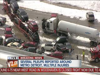 I-75 closed at Sibley