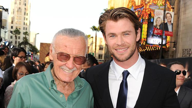 Thor LA Premiere 2011 Stan Lee Chris Hemsworth