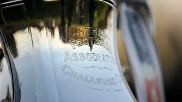 Close up detailed view of the FA Cup