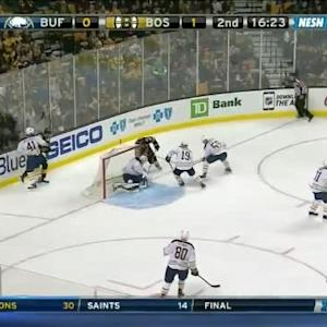 Jhonas Enroth Save on Patrice Bergeron (03:39/2nd)