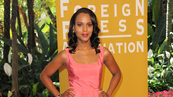 Kerry Washington attends the Hollywood Foreign Press Association luncheon at the Beverly Hills Hotel on Thursday, Aug. 9, 2012, in Beverly Hills, Calif. (Photo by Jordan Strauss/Invision/AP)