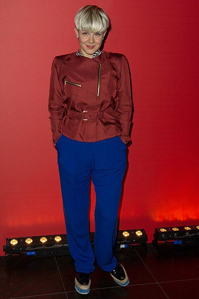 At the Givenchy afterparty during Paris Fashion Week, March 2012