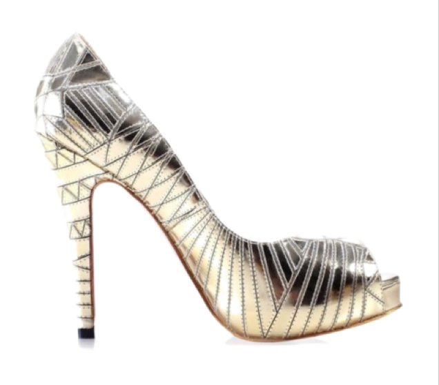 When in doubt, throw on a pair of metallic heels. They kick every outfit up a notch, and the flash of gold with each step is so fierce.