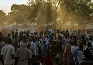 Refugees from South Kordofan gather at dusk at the Yida Refugee Camp in South Sudan. Sudanese rebels are using a refugee camp across the border in South Sudan as recruitment grounds for troops including child soldiers, a senior US official said Wednesday