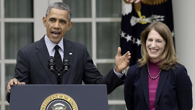 President Barack Obama with Sylvia Mathews Burwell