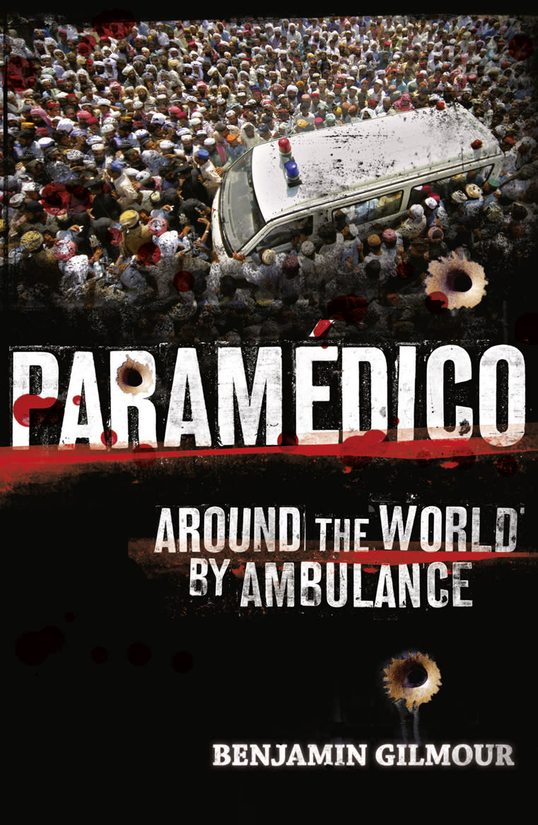 "This book cover image released by The Friday Project shows ""Paramedico: Around the World By Ambulance,"" by Benjamin Gilmour."