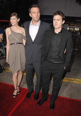 Michelle Monaghan , director Ben Affleck and Casey Affleck at the Westwood premiere of Miramax Films' Gone Baby Gone