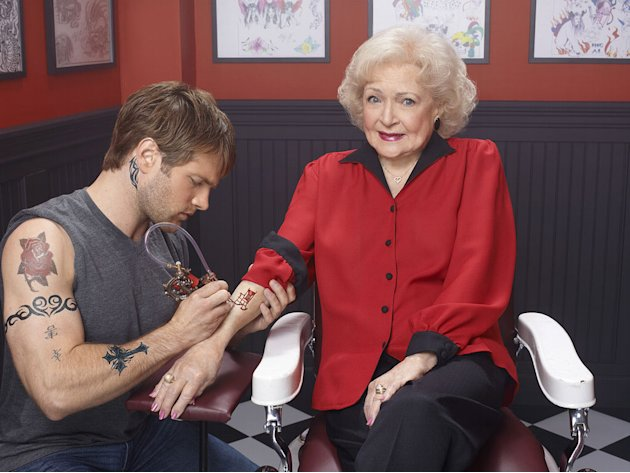 "Betty White hosts ""Betty White's Off Their Rockers."""