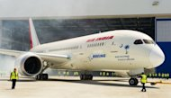 A new Boeing 787 Dreamliner being built for Air India rolls out of the hangar in April 2012. Air India took delivery of its first 787-800 Dreamliner on Thursday, joint statements from the airline and US manufacturer Boeing said, ending a four-year wait