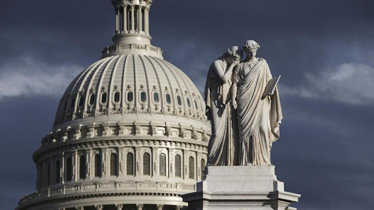 This Feb. 21, 2014, file photo shows the U.S. Capitol and the Peace