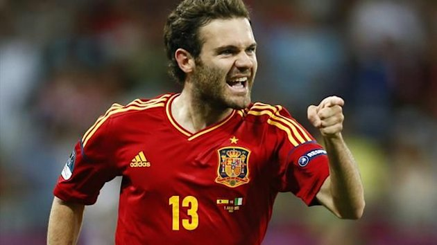 Juan Mata in action for Spain