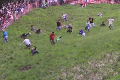 British people are still chasing cheese down a hill