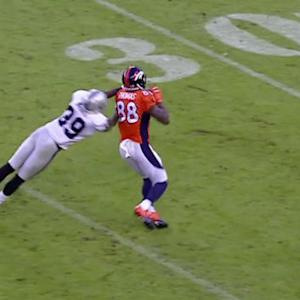 Denver Broncos wide receiver Demaryius Thomas' record-breaking catch
