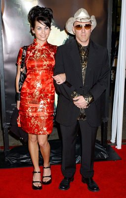 Maynard James Keenan with Amber Bell at the Hollywood premiere of Warner Bros. Pictures' Constantine