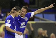 Kevin Mirallas, left, had a spectacular first start for Everton