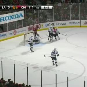 Kyle Clifford Hit on Brandon Saad (18:13/1st)
