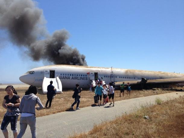 Asiana Airlines 214 crash (Photo by Wendell Hom)