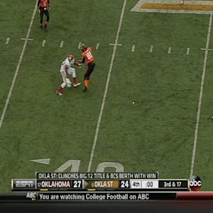 Final Play from Oklahoma vs Oklahoma State - Striker Touchdown