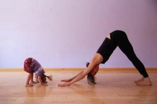 Let your kids join in on the next yoga session!