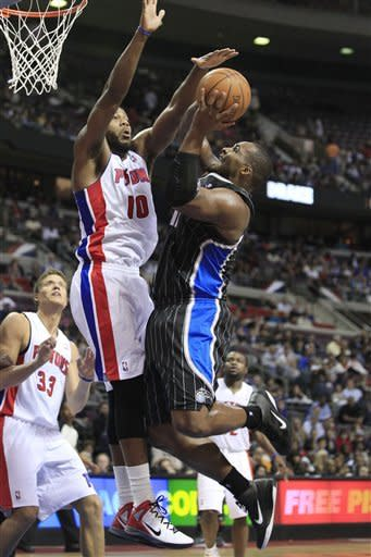 Pistons beat short-handed Magic 102-95
