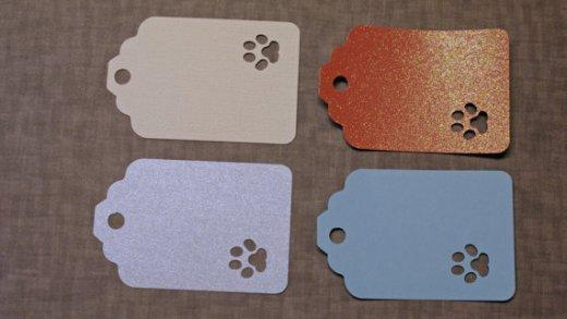 Pawprint Gift Tags