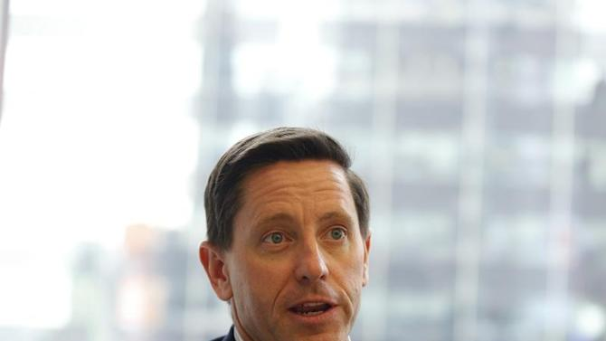 McLaughlin, president and chief executive officer of Palo Alto Networks speaks during an interview in New York
